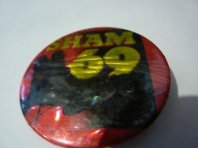 """""""SHAM 69""""  Vintage 1970's - 1980's  Button Badge (ONE ONLY)"""