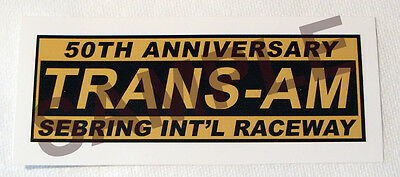 Trans Am Series 50Th Anniversary Vinyl Decal Sticker-Scca - Svra Racing