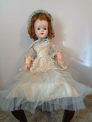 """American Character Walker Sweet Sue doll, 24""""  Cotillion Dress Bonnet jointed"""