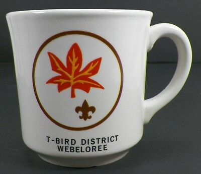 Vintage T-Bird District Webeloree Boy Scouts Of America Coffee Cup Mug