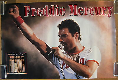 FREDDIE MERCURY The Great Pretender 1992 US ORG Promo Only POSTER Minty! QUEEN