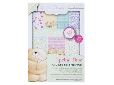 Forever Friends A5 double sided paper pack 160gsm (30pk) spring time