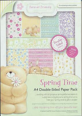 Forever Friends A4 double sided paper pack 160gsm (30pk) spring time