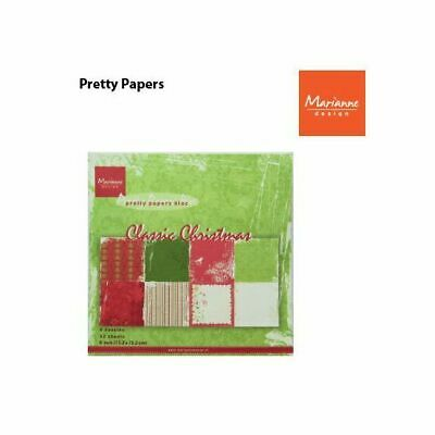 Marianne Design Paper pad Classic Christmas