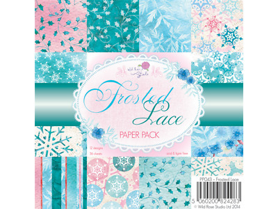 Wild Rose Studio's 6x6 Paper Pack Frosted Lace 36 Blatt