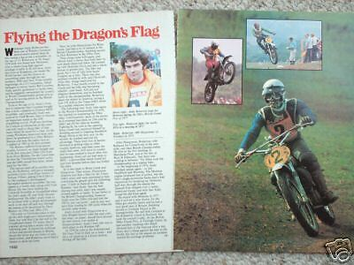 vintage ANDY ROBERTON MOTORCYCLE Racing Article/Photo's/Pictures