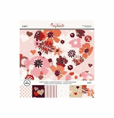S.E.I. Paper pad With All My Heart 30,5x30,5cm /24 Bögen
