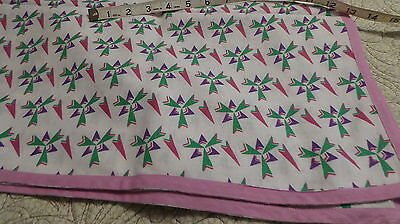 Terrific Vintage Feedsack Tablecloth for Quilt top block crafts fabric cotton