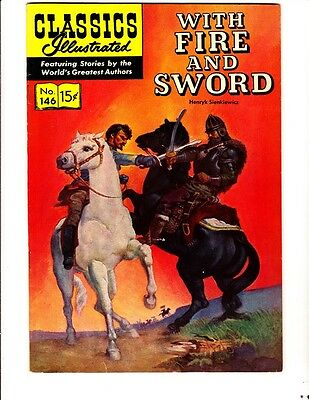 Classics Illustrated 146 (1958): With Fire and Sword: Orig: FREE to combine- VG