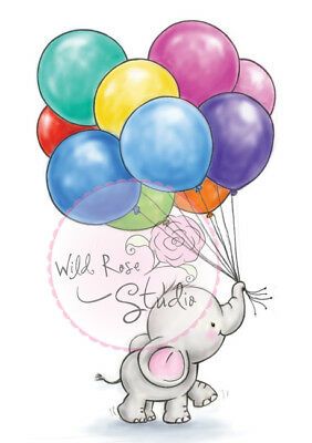 Wild Rose Studios A7 Clear Stempel Set Bunch of Balloons