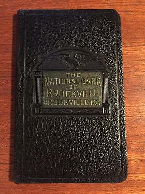The National Bank of Brookville, PA - Account Book - Black Faux Leather - 1940s