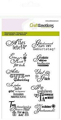 CraftEmotions clearstamps A6 - Texte Glückwunsch