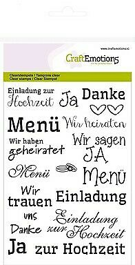CraftEmotions clearstamps A6 - Texte Hochzeit