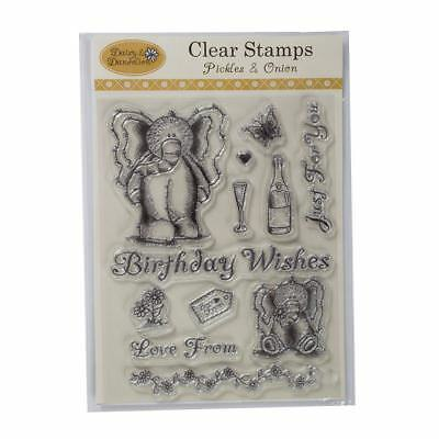 Daisy and Dandelion clear stamps - pickles & onion