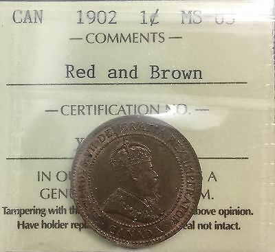 Canada 1902 Large  Cent ICCS MS63 Red Brown