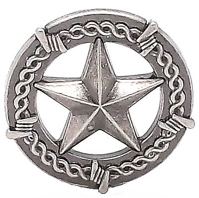 """Star And Barbwire Screwback Concho Antique Nickel 1-1/2"""" 7924-21"""