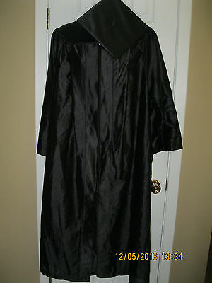**UNBRANDED**Unisex Graduation Gown robe zip front W/Cap ((One Size)) New/No/Tag