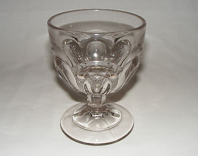 ANTIQUE EARLY AMERICAN PRESSED GLASS  BUTTERMILK COLONIAL GOBLET Eapg