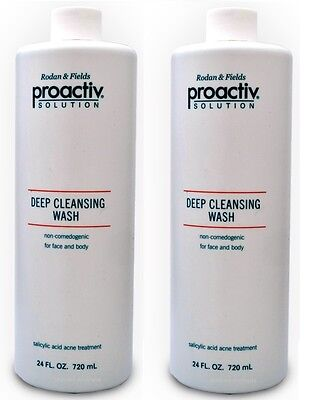 Proactiv Deep Cleansing Wash 2 x 720ml acne cleanser solution proactive 3/18 exp
