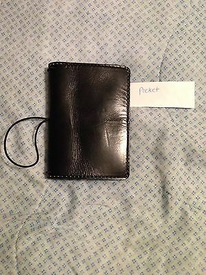 Chic Sparrow Pocket Deluxe Mr Darcy Distressed Black Leather Notebook
