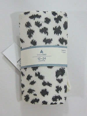 NWT Baby Gap Girl 12-24 Months Leopard Cat Tights Stockings Fall Winter 12-18-24
