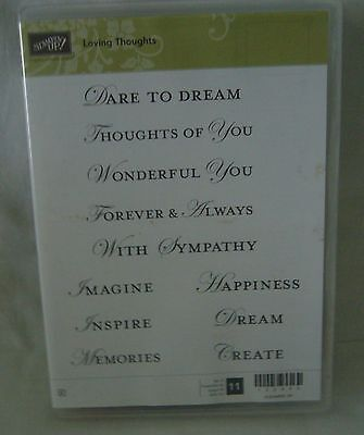 Stampin' Up Loving Thoughts Retired Clear Stamp Set