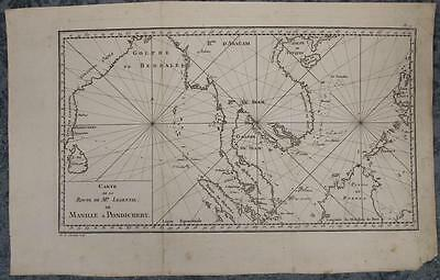 East Indies Southeastern Asia India Sri Lanka 1779 Le Gentil Antique Chart