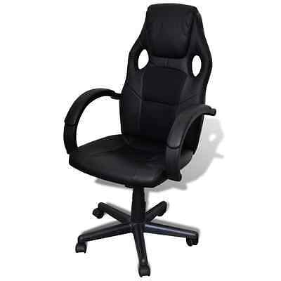 S# Overdrive Racing Office Chair Seat Executive Computer Gaming Faux Leather Bla