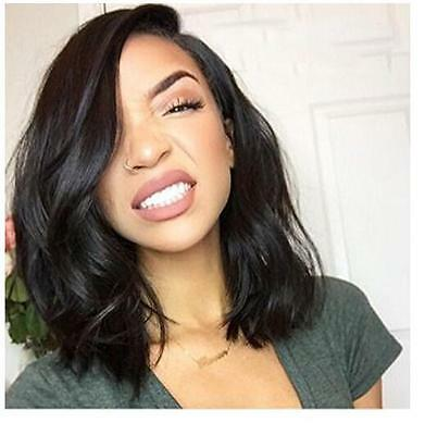 NO LACE Wig Heat Resistant Black Synthetic Full Hair WIG Cosplay Fashion Women's