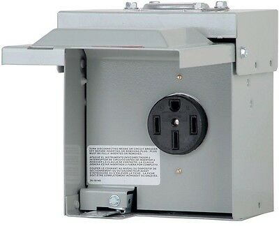 Eaton 50 Amp 1-Space 1-Circuit Temporary RV Power Outlet Box