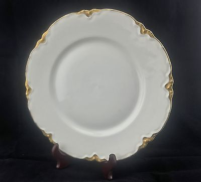 """Hutschenreuther Selb LHS Bavaria 9 5/8"""" White Plate w/ Gold edge approx 9 5/8"""""""