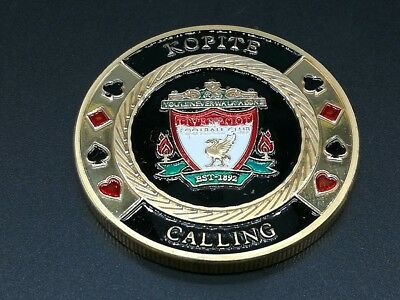 Golden LIVERPOOL FOOTBALL CLUB Casino Poker Card Guard Cover Protector