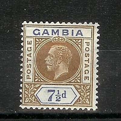Gambia   Eduard   Vii   &   George  V    Seven  Anf  Half  Pence     Mh*