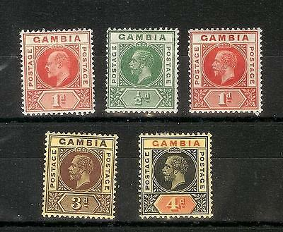Gambia   Eduard   Vii   &   George  V    Selection   Mh*