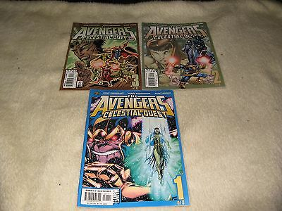 3 X The Avengers Celestial Quest Marvel Comics Issues 1-3