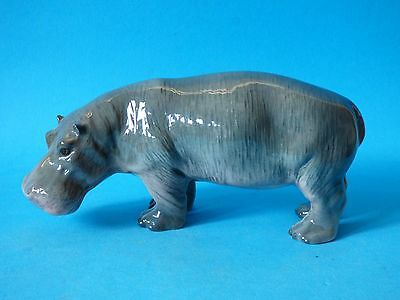 Rare Early 1St Version Collectable Vintage Gloss Beswick Hippopotamus #1532