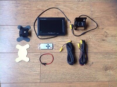 """IR Reverse Camera + 7"""" Monitor Kit for Tractor Combine Baler Self Propelled"""