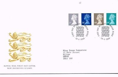 1999 Royal Mail FDC - New Definitive FDC (4 stamps) - issued 20 April 1999