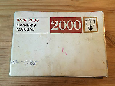 Rover 2000 - Owners, Workshop and Supplementary manuals