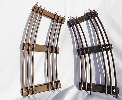 212::Hornby O Gauge 3 Rail Double Curved Track Sections