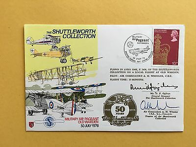 RAF (AD) SERIES FLOWN SIGNED COVER AD39c  SHUTTLEWORTH - FROM COLLECTION
