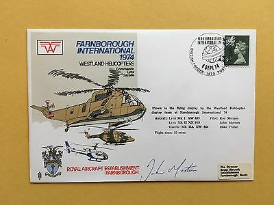 RAF (AD) SERIES FLOWN SIGNED COVER AD6b  FARNBOROUGH '74 - FROM COLLECTION #1
