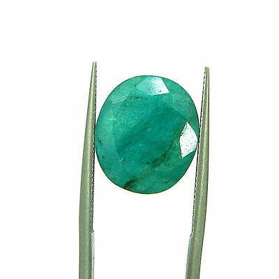 7.68 Ct Certified Natural Green Emerald / Panna Oval Loose Gemstone - 111548