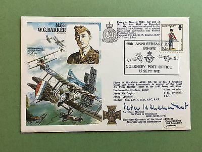 RAF HISTORIC AVIATORS SERIES FLOWN & SIGNED COVER No. HA 35c FROM COLLECTION