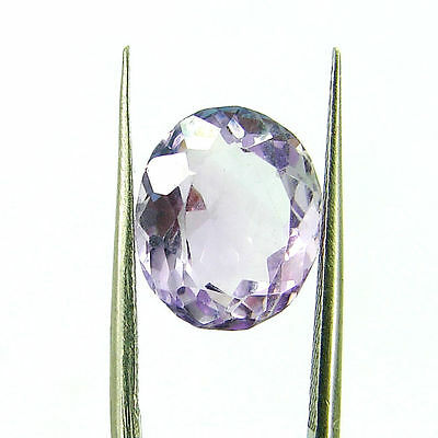 Natural 4.65 Ct Oval Loose Purple Amethyst Gemstone Stone - ZS4560