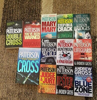James Patterson  Lot of 12 Brand New Books - 11 Paperback and 1 Hardback