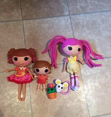 BUNDLE X3 Lalaloopsy Dolls With Accessories VGC