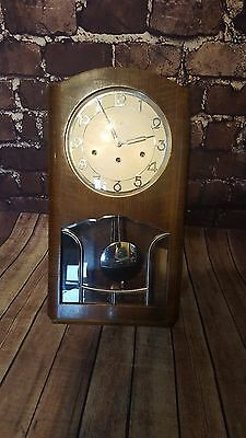 Antique Vintage Retro Art Deco Wall Clock By Kienzle Westminster Chime Chiming