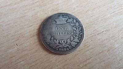 1836 William IV Shilling Coin