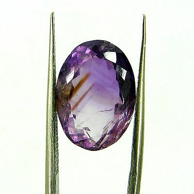 7.65 Ct Natural Oval Loose Purple Amethyst Gemstone Stone - ZS4592